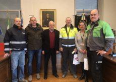 La Guida - Delegazione finlandese in Municipio a Verzuolo