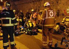La Guida - Simulazione di incidente stradale nel tunnel di Tenda
