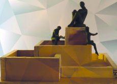 La Guida - Tre statue di Sergio Unia per la fontana di Roccaforte Mondovì