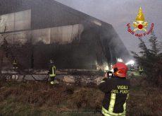 La Guida - Incendio in un maneggio, Vigili del fuoco intervenuti a Borgo