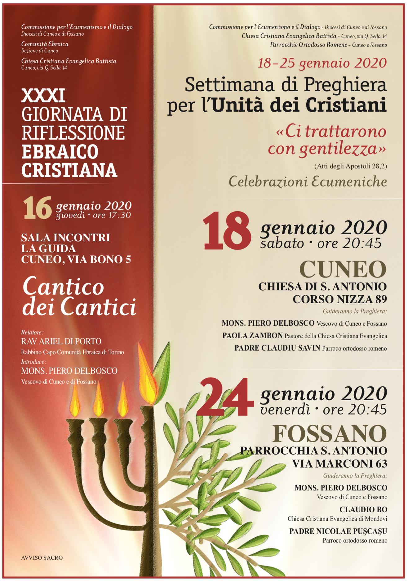 Locandina Settimana per l'Unità dei Cristiani