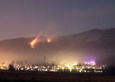 La Guida - Arrivano gli elicotteri per l'incendio a Villar