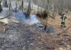 La Guida - Incendio boschivo a Envie, vigili del fuoco al lavoro