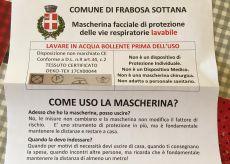 La Guida - Mascherine lavabili per le famiglie di Frabosa Sottana