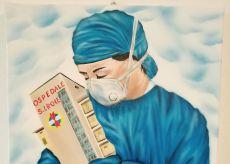 La Guida - L'artista Davide Giordano dona un quadro al Santa Croce