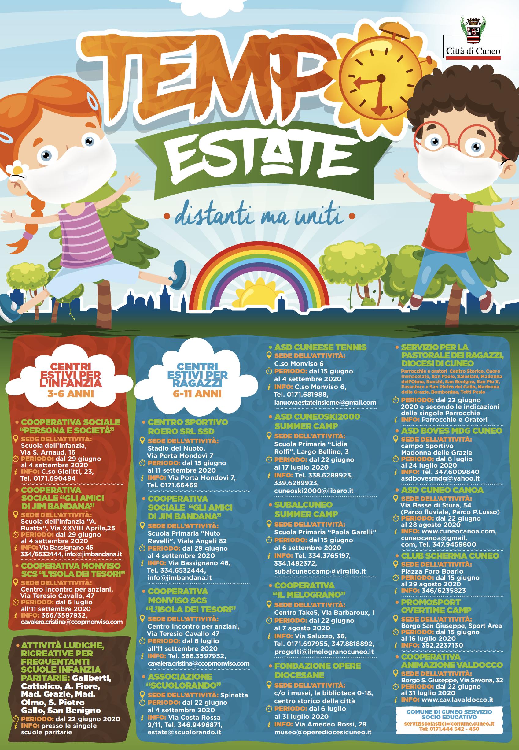 Cuneo, iniziative e centri estivi per bambini e ragazzi ...