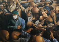 """La Guida - Il quadro """"Libera Nos"""" del pittore Fausto Nazer donato a Bergamo"""