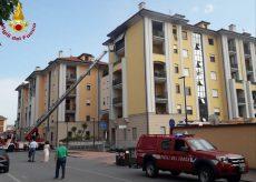 La Guida - Intervento dei Vigili del Fuoco per un incendio a Fossano