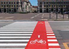 La Guida - Conclusi i lavori per gli attraversamenti ciclabili in piazza Galimberti