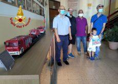 La Guida - Modellini donati ai Vigili del fuoco per ringraziarli