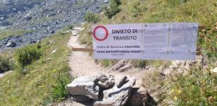 La Guida - Frane sul Monviso, chiuso un tratto del sentiero che conduce al Quintino Sella