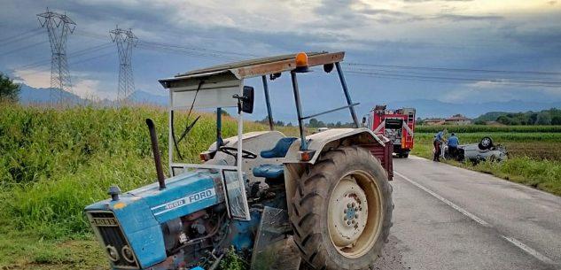 La Guida - Scontro tra trattore e auto a Margarita