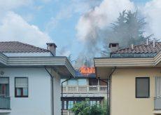 La Guida - Centallo, domato incendio in via Carpano