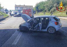 La Guida - Due persone ferite in uno scontro sulla tangenziale di Mondovì