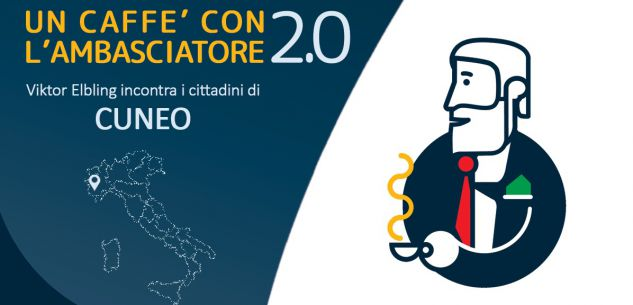 La Guida - L'ambasciatore tedesco Elbling dialoga con il sindaco di Cuneo