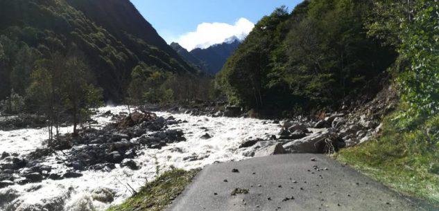 La Guida - Una pista provvisoria per raggiungere San Giacomo d'Entracque (video)