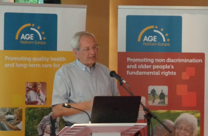 """Il presidente eletto di """"Age Platform Europe"""", il danese Ebbe Johansen"""