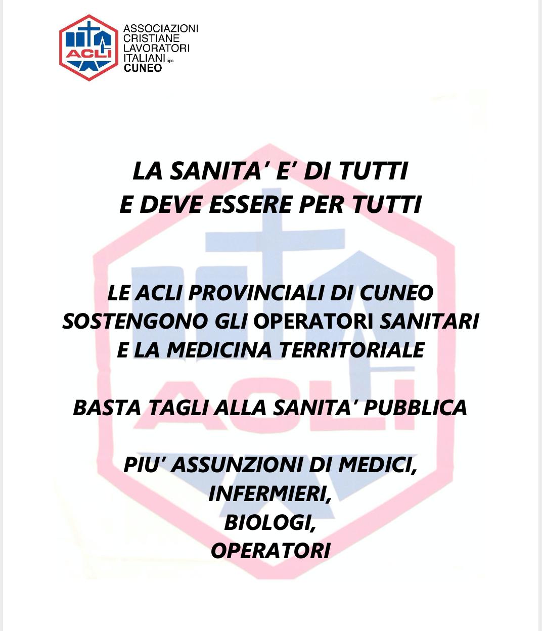 Manifesto Acli per la Sanità pubblica