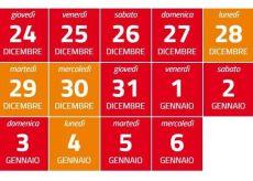 La Guida - L'Italia in zona rossa i primi giorni dell'anno