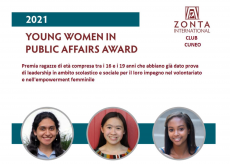 """La Guida - """"Young Woman in Public Affairs"""", c'è tempo fino al 1° marzo per partecipare al concorso di Zonta"""