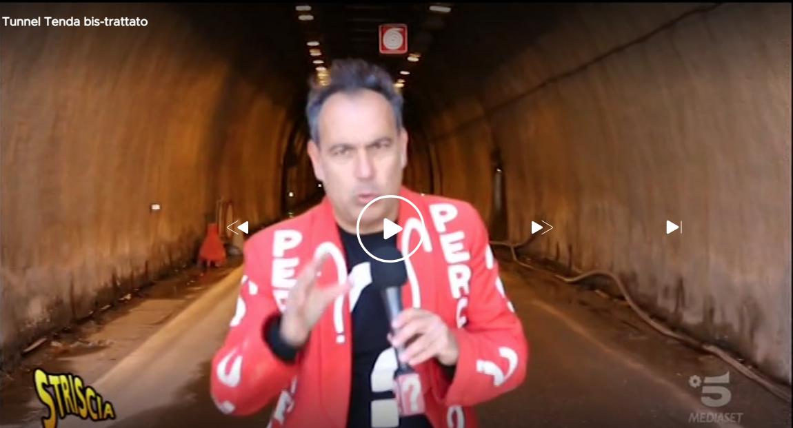 Tunnel di Tenda - Striscia la notizia