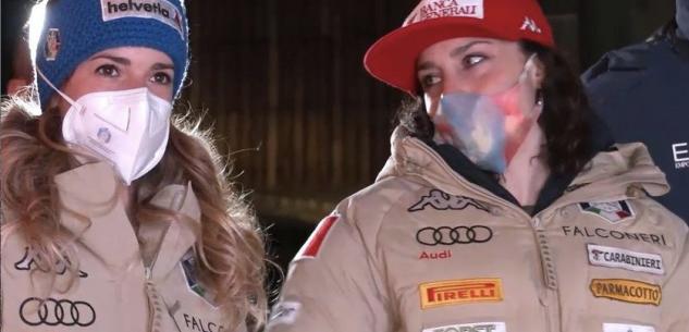 La Guida - Federica Brignone 1ª, Elena Curtoni 2ª e Marta Bassino 12ª nella prima manche della Combinata