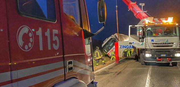 La Guida - Rimosso il camion uscito di strada a Crocera di Barge