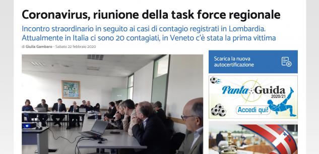 La Guida - Un anno fa come oggi, 21 febbraio, la prima riunione task force Coronavirus