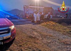 La Guida - Vigili del Fuoco in soccorso di un uomo caduto in un canale a Piobesi d'Alba