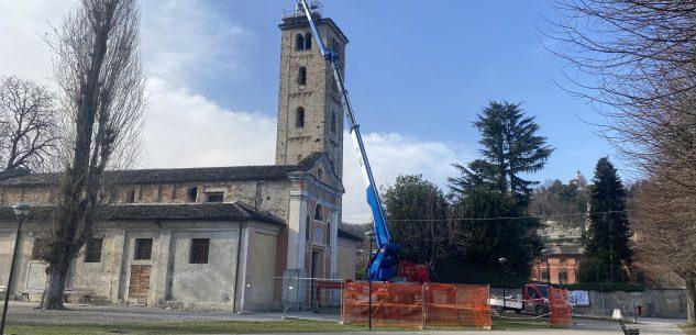 La Guida - Caraglio, lavori di sistemazione del tetto della chiesa di San Paolo