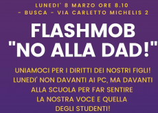 """La Guida - Busca, flashmob """"No alla Dad"""" in via Carletto Michelis"""