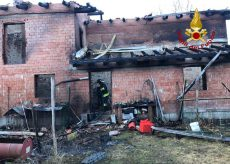 La Guida - Incendio nella notte a Chiusa Pesio in regione Gambarello