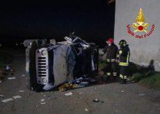 La Guida - Rimane intrappolata nell'auto in un incidente a Levaldigi