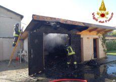 La Guida - In fiamme un fabbricato usato come garage a Saluzzo