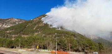 La Guida - A Vievola in fumo più di 35 ettari di bosco