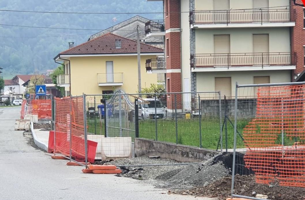 Rifreddo - cantiere in via roma maggio 2021