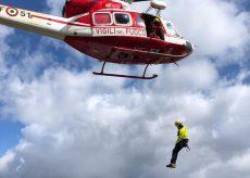 La Guida - Escursionista soccorso lungo la via ferrata Bec Valletta (video)