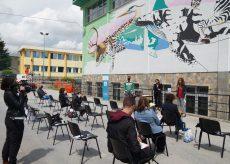 La Guida - Presentato il murale della scuola di Madonna dell'Olmo