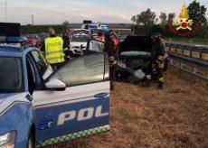 La Guida - Incidente in autostrada, quattro persone lievemente ferite