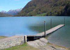 La Guida - Lavori sul Pontile del lago di Pontechianale