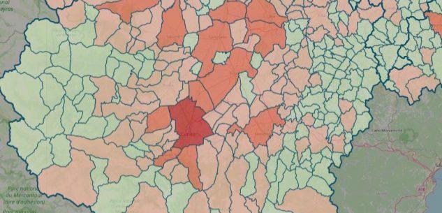 La Guida - La mappa del contagio: salgono a 121 i Comuni covid-free