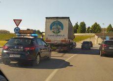 La Guida - Incidente alla rotatoria tra viadotto Sarti e galleria del Carle