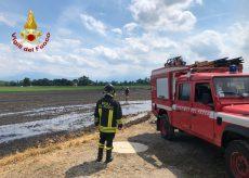 La Guida - Incendio in un campo tra Tarantasca e Cuneo