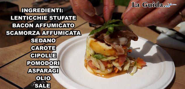 La Guida - Insalata lenticchie, bacon e scamorza (video)