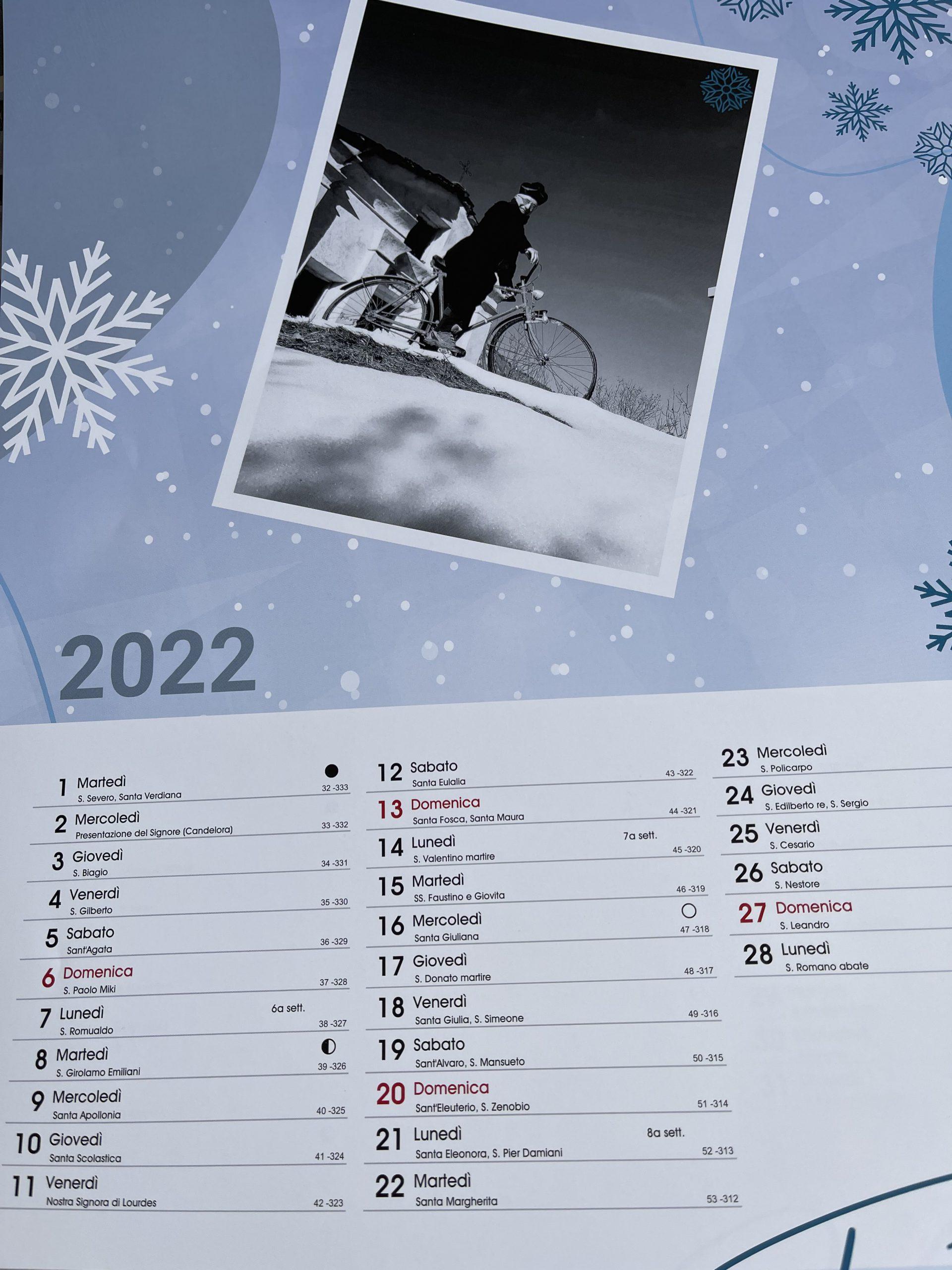 calendario del concorso La sedia e la neve