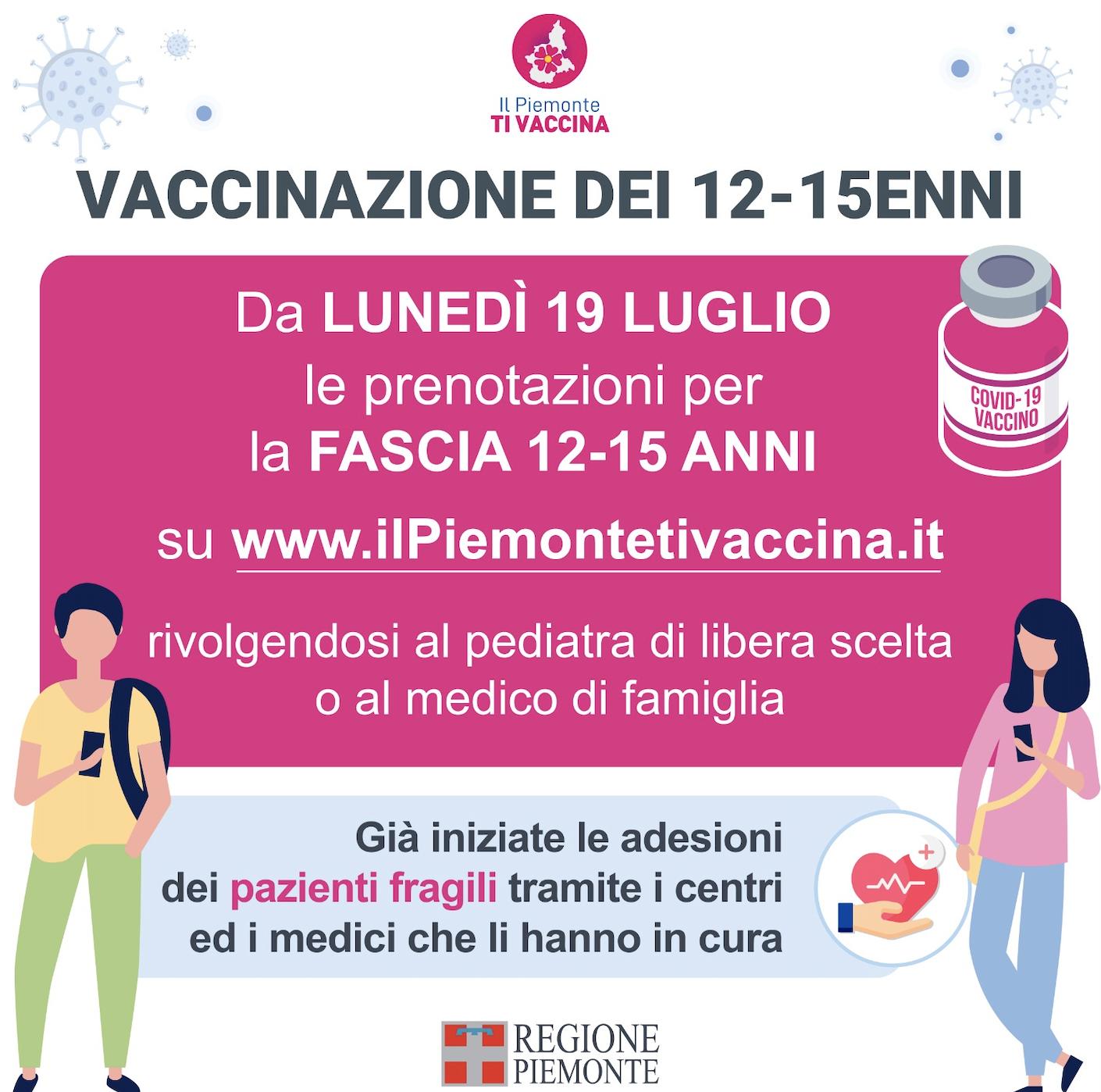 Vaccinazione 12-15 anni