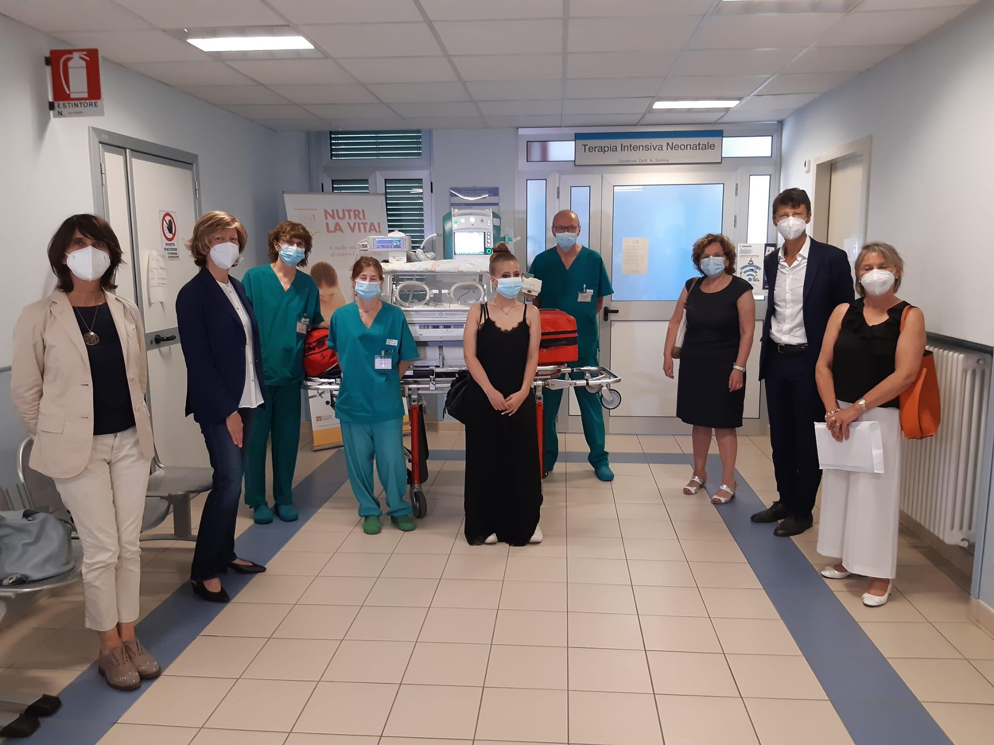 Donazione di un ventilatore alla Terapia intensiva neonatale