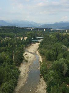 Il fiume Stura quasi in secca
