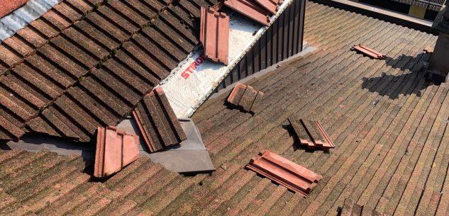 La Guida - Vento e grandine nelle frazioni di Cuneo, si contano i danni