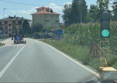 La Guida - Semaforo all'imbocco della Valle Grana